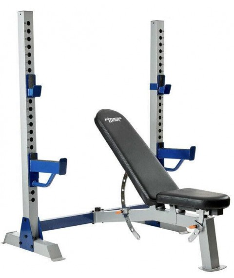 Fitness Gear Pro Olympic Weight Bench and Barbell Rack NEW