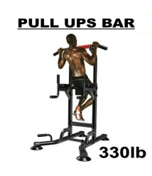 330lb Dip Station Pull Ups Bar Pull Up Power Tower Workout Strength Training HOT
