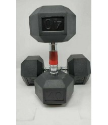 (2) Weider Rubber Coated 40 Pound Hex Dumbbells BRAND NEW 80 Pounds Total
