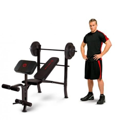 Marcy Standard Weight Bench with 80-lb. Weight Set =FREE SHIPPING=
