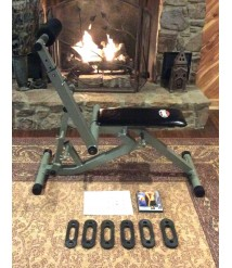 BODY BY JAKE TOTAL BODY TRAINER W/ DVD, MANUAL AND 6 RESISTANCE BANDS