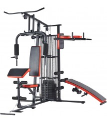 BalanceFrom Home Gym System Workout Station With 380lb of Resistance 145lb Stack