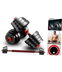 Adjustable Rubber Dumbbell Set Barbell Home Gym Exercise Weights Fitness 40kg