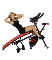 Ab Abdominal Arm Trainers Sit-up Bench Leg Exercise Bike Workout Machine Home US