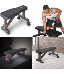 800 lbs Flat Utility Workout Bench Station Home Gym Strength Training Equipment