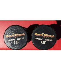 ( Iron Grip ) Hex Dumbbells  (2) 15lbs PAIR total 30lbs Total Weights