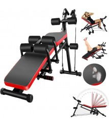 8IN1 Weight Bench Adjustable Sit Up Bench Gym&Home Lifting Dumbbell Abs Bench A2