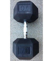 70 lb Pair (150 lbs Total) Rubber Hex Dumbbells Barely Used - LOCAL PICKUP ONLY