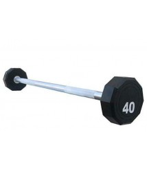 10-Sided Fixed Urethane Encased Straight Barbell