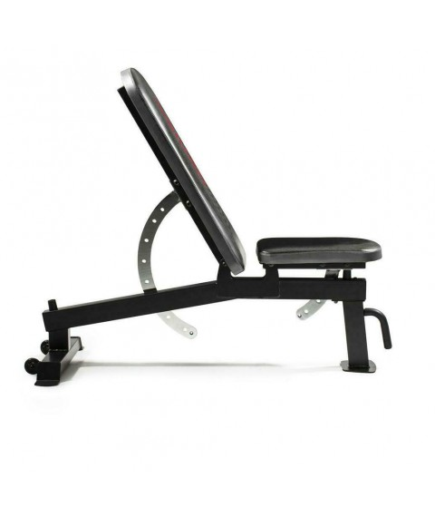 Weider WEBE89619 Adjustable Utility Bench with 50lbs Dumbbell Set