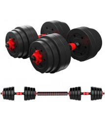 A Pair of Fitness Dumbbell Set 30 Kg Adjustable Dumbbell, Dumbbell Combination Dumbbell Barbell Home Fitness Equipment for Arm Muscles