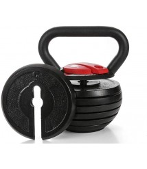 Kettlebells AGYH Fitness, Adjustable Weight 10lb-40lb, Used for Core Training Muscle Training Strength Training Equipment (Color : Black+Red)