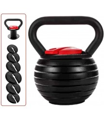 40LB Kettlebell Adjustable Weights with Handle for Men Women, Kettlebell for Strength Training Exercise Home Fitness Gym Equipment