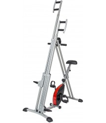 Best Choice Products 2-in-1 Total Body Vertical Climber Magnetic Exercise Bike Machine, Black/Gray