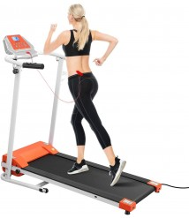 BESPORTBLE Motorized Treadmill Folding Electric Treadmill Running Machine Easy Assembly Electric Treadmills for Home, Motorized Fitness Compact Running Equipment with LCD for Home Dorm Office