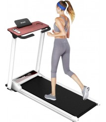 Bieay Folding Treadmill, Electric Motorized Portable Pad Treadmills Large Screen, Walking Jogging Running Exercise Fitness Machine for Home Gym Office