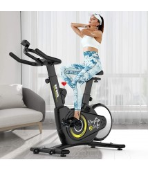 Afully Indoor Cycling Bike, Magnetic Resistance Stationary Bike, Belt Drive Exercise Bike with Heavy-Duty Rear Flywheel for Home GYM (All-Inclusive Design)