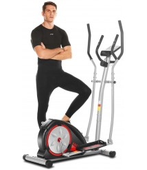 ANCHEER Elliptical Machines, Elliptical Trainer for Home Use with Pulse Rate Grips and LCD Monitor, Magnetic Smooth Quiet Driven Max Capacity Weight 350LBS
