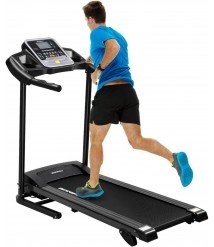 BESPORTBLE Folding Treadmill Exercise Running Machine with 5 inch LCD Display 16 Inner Smart Sporting Programs 3 Manual Incline for Keeping Fit Burning Calories Exercising(US Fast Shipment)