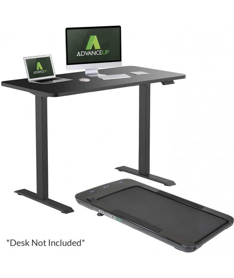 AdvanceUp Under Desk Walking Treadmill for Standing Desk and Cubicles, Slim Touchscreen Display 3 Workout Modes & 12 Programs, Fitness Cardio Home Workout Indoor Jogging Exercise Machine