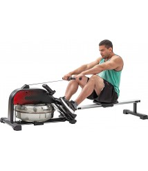 Artiron Rower Machine Exercise Equipment, Water Rowing Machine Rower with LCD Monitor Foldable for Home Use