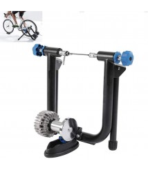 BATOWE Bike Resistance Trainers Stand Portable Fluid Bike Trainer Stand Magnetic Resistance Indoor Stationary Exercise Training Bracket Stand Steel Frame for Mountain & Road Bikes