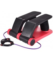 BEDDYB Air Stepper Climber, Fitness Machine Resistant Cord Air Step Aerobics Machine Stair Stepper with LCD Monitor and Resistance Bands for Women and Man.