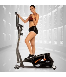ANCHEER Magnetic Elliptical Machine, Quiet & Smooth Driven Elliptical Cross Trainer Machine with 10 Levels Resistance and LCD Digital Monitor, Best Indoor Exercise Machine for Home Gym Office
