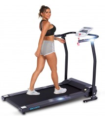 ANCHEER Treadmill, Fixed Incline Electric Folding Treadmills with Music Speaker and LCD Monitor Motorized, Portable Indoor Walking Jogging Running Exercise Machine for Home GymOffice Workout