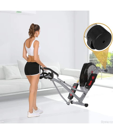 Aceshin Elliptical Machine Trainer Compact Life Fitness Exercise Equipment for Home Workout Offic Gym
