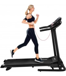 BESPORTBLE Folding Portable Treadmill for Home Gym with LCD Display - Space Save Running Walking Jogging Exercise Fitness Machine