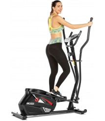 ANCHEER Elliptical Exercise Machine for Home, Quiet & Compact, Magnetic Eliptical Cross Trainer Machine for Indoor Workout with 10-LevelResistance, Weight Capacity 390lbs