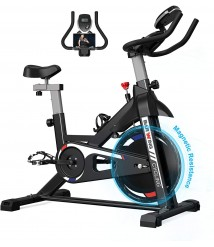 BARWING Exercise Bikes Stationary- Indoor Cycling Bikes Fully Adjustable Spinning Bikes for Home Gray