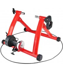 BATOWE Bike Resistance Trainers Stand Bicycle Turbo Trainer, Bicycle Trainer Foldable Indoor Bike Trainer Bike Trainer Stand Bicycle Fitness Rack for Mountain Bikes,Red