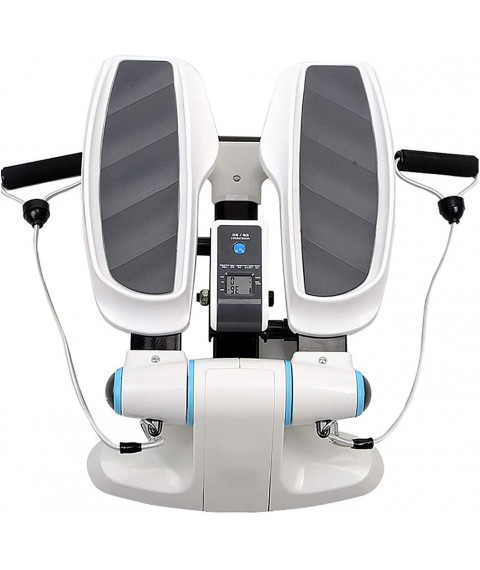 AAADRESSES Adjustable Stepper Stepping Machine, Twisting Step Fitness Machine Exercise Equipment with Bands and LCD Monitor