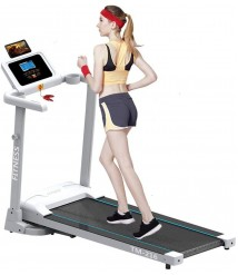 Anyren 2.0HP Folding Electric Treadmill LCD Display Motorized Running Jogging Exercise Machine Speakers Bluetooth for Aerobic Exercise Home Workout