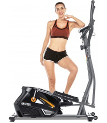 ANCHEER Eliptical Exercise Machine,Elliptical Cross Trainer for Home Use,Heavy-DutyGym Equipment for Indoor Workout & Fitness with 10-Level Resistance&Max User Weight:390lbs.