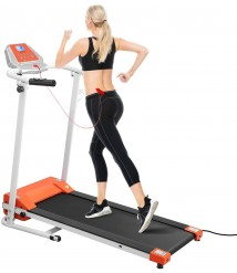 BESPORTBLE Folding Treadmill for Home- Motorized Treadmill LCD Display- Non Slip Surface- Adjustbale 1-10 Km/h- Easy Assembly Compact Running Machine for Cardio & Weight Loss